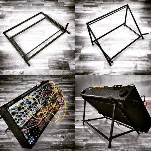画像1: Make Noise Blued Steel System Stand(ハンドメイド)