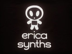 画像2: Erica Synths logo T-shirt V Neck Black size L