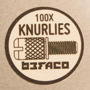画像2: BEFACO KNURLIES - ユーロラック M3 ラック スクリュー x100個