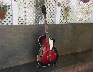 画像1: Hohner France Holiday Jazz Guitar Vintage / Made in Germany c.1961(?) レアビンテージ アーチトップ アコースティック
