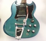 "2001 Gibson SG Blue Teal ""Flip Flop"" w/Bigsby B3 & Towner Down Tension Bar"