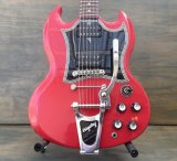 Gibson SG w/Bigsby B3 & Towner Down Tension Bar, Decoboom Streamline Pickguard Set
