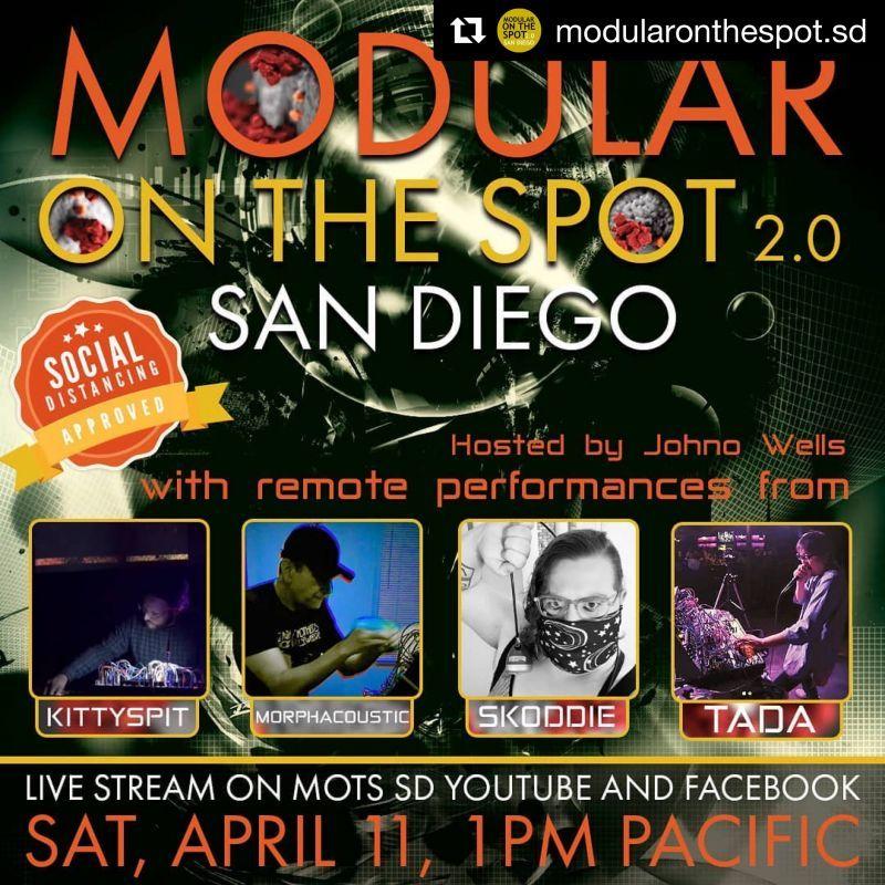 ロックダウン生活、Modular On the Spot SD/ Socal Synth society/ リモートストリーミング ライブ...