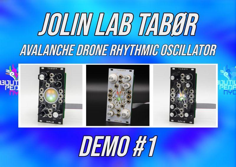 Jolin Lab TABØR - Avalanche Drone Rhythmic Oscillator デモ #1